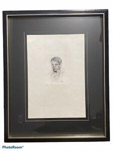 "SALVADOR DALI ""Portrait of Picasso"" Original Authentic HAND SIGNED Etching"