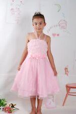 Vestido Niña de Fiesta Blanco Rosa Rojo Lila 4 5 6 7 8 Años