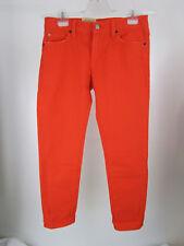 Ralph Lauren Denim&Supply Damen Jeans Caprihose Sommer 27 Orange Skinny Neu
