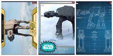 Star Wars Card Trader AT-AT Gold Vehicle, Blueprint And Base Variant.