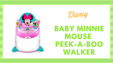 New Disney Minnie Mouse Peekaboo Walker Adjustable Infant Activity  Musical Toy