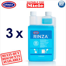 3 x Urnex Milk Line Spout Frother Cleaner 1.1L for Miele Coffee Machine