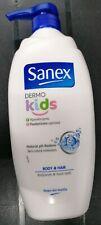 KIDS SANEX WASH DERMO BODYWASH HYPOALLERGENIC 750ML FOAM BATH HAIR RESTORE PH