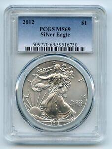 2012 $1 American Silver Eagle Dollar 1oz PCGS MS69