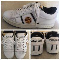 """OSIRIS  White """"Screw"""" shoes size 10.5 US EUR 44 men white leather St"""
