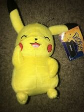 "TOMY Official Pokemon Sun and Moon Blushing Pikachu Plush 8"" BRAND NEW"