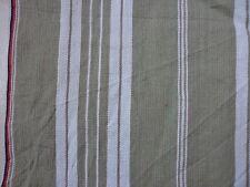 2 coupons tissus TOILE A MATELAS vert et marron / COUTURE/DECO LOFT VINTAGE