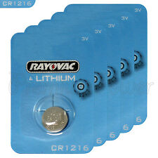 5 x Rayovac Lithium CR1216 batteries 3V Coin Cell KRC1216 BR1216 DL1216