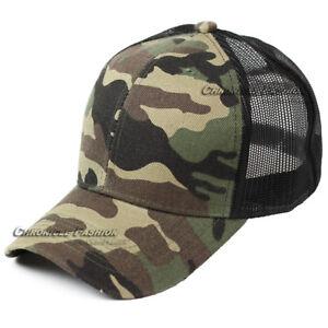 Trucker Hat Mesh Baseball Cap Snapback Adjustable Solid Plain Blank Hip Hop Men