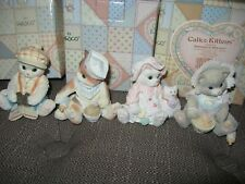 Lot Of 4 Calico Kittens Lost Without You*New Kit*Buttoned Up*Tummy Full*Nib