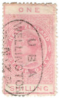 (I.B) New Zealand Revenue : Stamp Duty 1/- (Wellington)