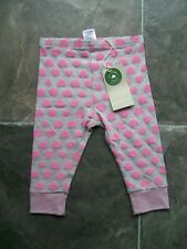 BNWT Baby Girl's Pink & Grey Organic Cotton Knit Pants Size 00