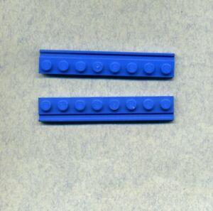 Lego-- 4510 -- 1 x 8 -- Blau -- Führungsschiene -- 2 Stück --