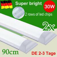 40W LED Feuchtraumleuchte 120cm Röhre Wannenleuchte Keller Garage Werkstatt IP65