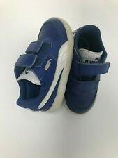 Puma Blue 2-strap Low Top Leather Children's Shoes Size 6