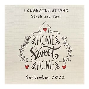 Handmade PERSONALISED New Home House Warming Card