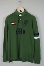 TOMMY HILFIGER CUSTOM FIT Men's SMALL Long Sleeve Rugby Shirt JS15076-