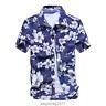 US Men's Hawaiian Shirt Summer Floral Printed Beach Short Sleeve Tops Blouse New