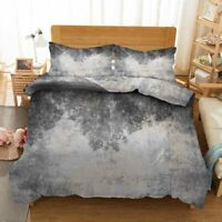 Simple Grey Map 3D Printing Duvet Quilt Doona Covers Pillow Case Bedding Sets