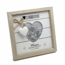 Personalised Meow Cat Photo Frame - Vintage Rustic Style With Sentiments 56891-P
