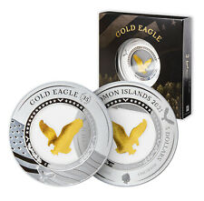 More details for gold eagle coin collectible 2oz silver with gold insert