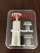 Houdini Wine Preserver Metrokane Vacuum Pump with 2 Stoppers Preserves Flavor