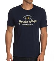 John Varvatos Star USA Men's Support Your Local Record Shop Crew T-Shirt Navy