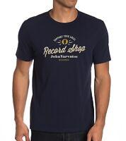 John Varvatos Star USA Men's Support Your Local Record Shop Crew T-Shirt Navy