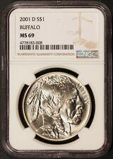 2001-D U.S. Buffalo Commemorative $1 Silver Dollar - NGC MS 69