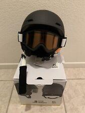 NEW Burton Anon Define Snow Helmet W/ Goggles Black Youth L/XL 52-55cm