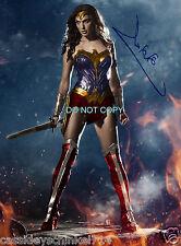 "Gal Gadot Wonder Woman Reprint SIGNED 11x14"" Poster #2 RP Batman vs Superman"