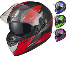 Agrius Rage SV Fusion Motorcycle Helmet M Gloss Black/red