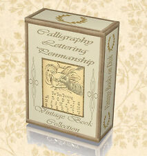 Vintage Calligraphy Old Books on DVD - How To Sign Write Writing Lettering 271