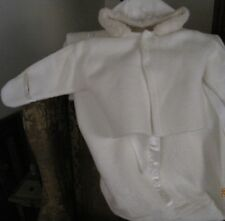 Vintage Baby Bunting with Removable Jacket made by Tidy Kins Robe-N-Hood White