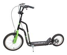 Kinder Tretroller City Scooter Lifefit Rider 16/12 Zoll Roller schwarz/grün TOP*