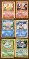 Squirtle Bulbasaur Charmander Vintage Pokemon Cards Base Set  WOTC 1999