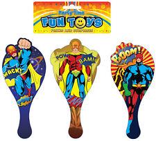 6 super héros pagaie chauves-souris - en bois de butin / sac de fête charges Kids / BIFF