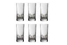 European Crystal Drinkware Set of 6 Highball Glasses Aurea