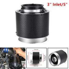 "3"" Inlet Carbon Fiber Look Hi-Flow Air Filter For Cold Air/Short Ram Intake Sale"