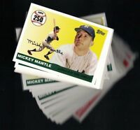 2006 Topps Mickey Mantle Home Run History #MHR250 - #MH536...Choose your Card(s)