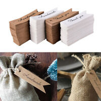 100x Kraft Paper HANDMADE THANK YOU Gifts Tags Rustic Weddings Favor Tag Label D