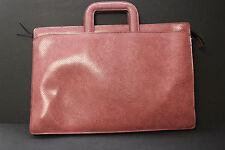 Vintage HAZEL Pink Faux Snakeskin Briefcase Portfolio Attache Case