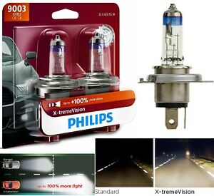 Philips X-Treme Vision 9003 HB2 H4 60/55W Two Bulbs Head Light High Low Beam OE