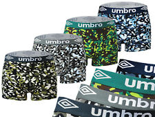 UMBRO 4-PACK MEN'S BOXER 220-71 COMFORTABLE ARMY STYLE WIDE WAISTBAND COLORFUL