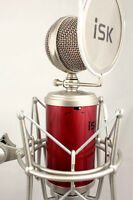 iSK RM-16 Studio Condenser Microphone + Shock Mount/Pop Filter + 6m XLR Cable