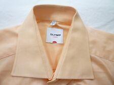 E7966 Olymp Luxor Businesshemd Kombimanschette 40 apricot glänzend meliert Uni