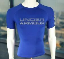 UNDER ARMOUR SHIRT Blue COMPRESSION T-Shirt UA Heatgear Fitted  Small