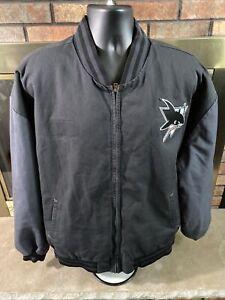 Vintage San Jose Sharks NHL Hockey Varsity Letterman Jacket Mens Size XXXL Vtg