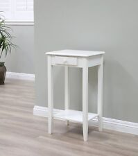 New Home Furnishing Antique Regalia Table Collection, White