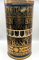 """Vtg Made In USA Metal Container Lidded Canister US Navy Mess Hall 13"""" H 6.5""""W"""